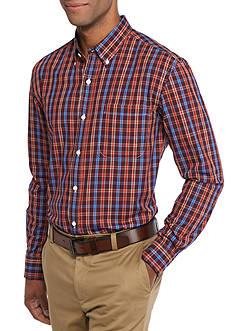 Saddlebred Long Sleeve Small Plaid Easy Care Shirt