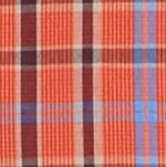 St Patricks Day Outfits For Men: Miro/Orange Saddlebred Long Sleeve Small Plaid Easy Care Shirt