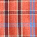 Men: Saddlebred Casual Shirts: Miro/Orange Saddlebred Long Sleeve Small Plaid Easy Care Shirt