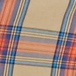 Men: Saddlebred Casual Shirts: Khaki/Green/Red Saddlebred 1888 Long Sleeve Tailored Tartan Poplin Shirt