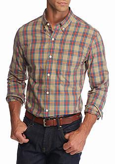Saddlebred 1888 Long Sleeve Tailored Tartan Poplin Shirt
