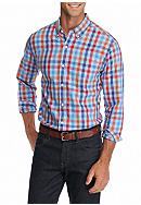 Saddlebred® 1888 Long Sleeve Tailored Gingham