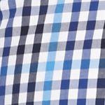 Men: Saddlebred Casual Shirts: Blue/White Saddlebred 1888 Long Sleeve Mini Gingham Poplin Shirt