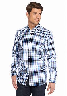 Saddlebred 1888 Long Sleeve Mini Gingham Poplin Shirt