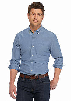 Saddlebred® 1888 Long Sleeve Solid Tailored Oxford Shirt