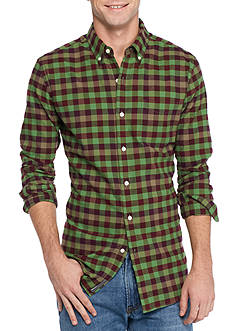 Saddlebred 1888 Long Sleeve Tailored Gingham Oxford Shirt