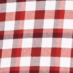 St Patricks Day Outfits For Men: Red/White Saddlebred 1888 Long Sleeve Tailored Gingham Oxford Shirt