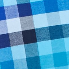 Men: Saddlebred Casual Shirts: Blue/Teal Saddlebred 1888 Long Sleeve Tailored Gingham Oxford Shirt