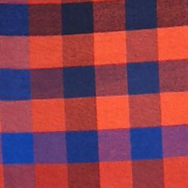 Men: Saddlebred Casual Shirts: Orange/Blue Saddlebred 1888 Long Sleeve Tailored Gingham Oxford Shirt