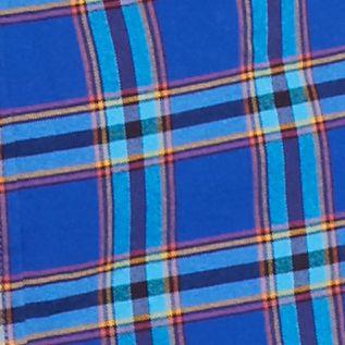 Men: Saddlebred Casual Shirts: Blue Saddlebred 1888 Long Sleeve Tailored Plaid Oxford Shirt
