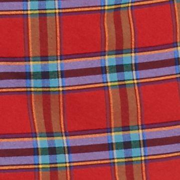 Men: Saddlebred Casual Shirts: Red Saddlebred 1888 Long Sleeve Tailored Plaid Oxford Shirt