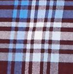 Men: Saddlebred Casual Shirts: Burgundy/Blue Saddlebred Long Sleeve Tailored Plaid Oxford Shirt