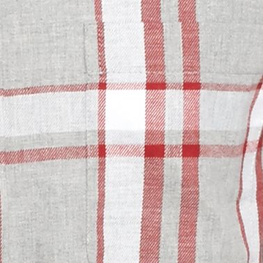 Men: Casual Shirts Sale: Gray/Red/White Saddlebred Long Sleeve Flannel Shirt