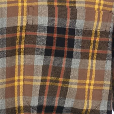 Men: Casual Shirts Sale: Brown/Black/Green Saddlebred Long Sleeve Flannel Shirt