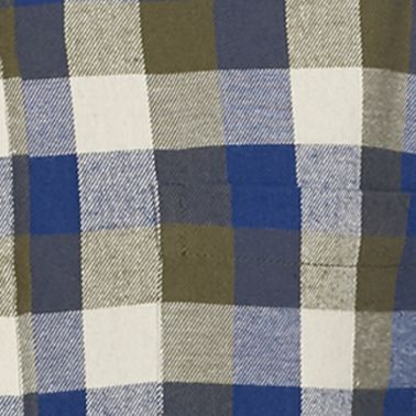 Men: Casual Shirts Sale: Blue/Gingham Saddlebred Long Sleeve Flannel Shirt