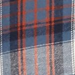 Men: Casual Shirts Sale: Blue/White/Orange Saddlebred Long Sleeve Flannel Shirt