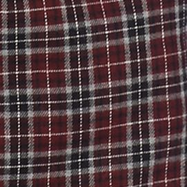 Men: Casual Shirts Sale: Burgundy/Black/Green Saddlebred Long Sleeve Flannel Shirt