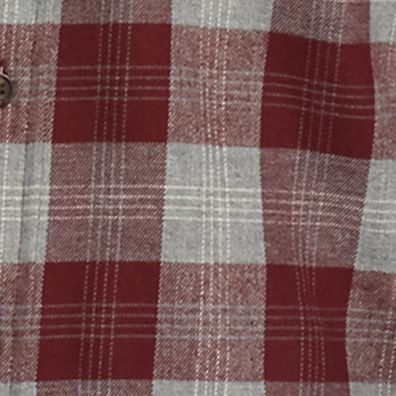 Men: Casual Shirts Sale: Burgundy/Gray Saddlebred Long Sleeve Flannel Shirt