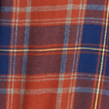 Men: Casual Shirts Sale: Rust/Blue Saddlebred Long Sleeve Flannel Shirt