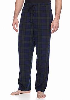 Saddlebred Big & Tall Blackwatch Plaid Microfleece Sleep Pants