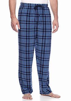 Saddlebred Big & Tall Navy Blue Plaid Microfleece Sleep Pants