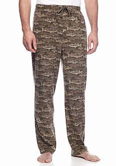 Saddlebred Big & Tall Fish Print Microfleece Camouflage Sleep Pants