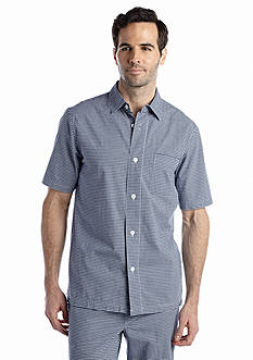 Saddlebred® Gingham Woven Camp Lounge Shirt