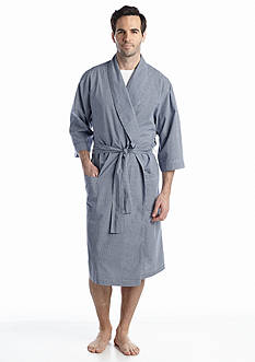 Saddlebred® Gingham Woven Robe