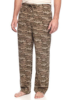 Saddlebred® Fish Print Microfleece Lounge Pants