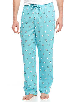 Saddlebred Turquoise Crab Print Sleep Pants