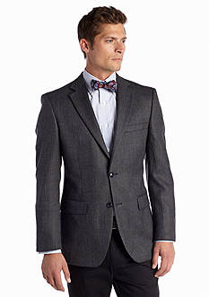Saddlebred Classic Fit Blue Herringbone Lambswool Sport Coat