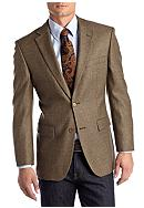 Saddlebred® Classic Fit Brown Weave Lambswool