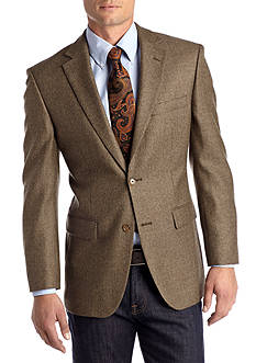 Saddlebred Classic Fit Brown Weave Lambswool Sport Coat