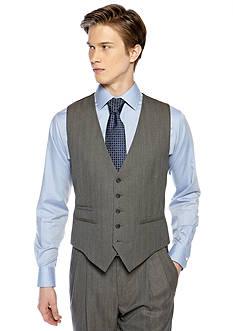 Saddlebred® Classic Comfort Fit Herringbone Suit Separate Vest