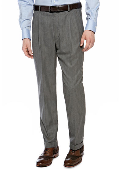 Saddlebred® Classic Comfort Fit Herringbone Suit Separate Pants