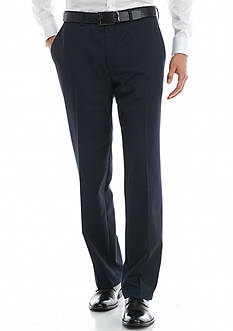 Saddlebred Big & Tall Navy Herringbone Suit Separate Pants
