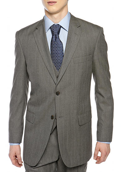 Saddlebred® Classic Comfort Fit Herringbone Suit Separate Coat