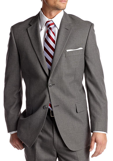Saddlebred® Classic Comfort Fit Grey Suit-Separate Coat