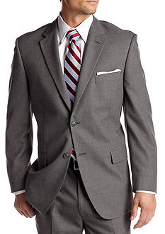 Saddlebred Classic Comfort Fit Grey Suit-Separate Coat
