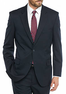 Saddlebred Big & Tall Navy Herringbone Suit Separate Coat
