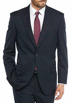 Saddlebred Big & Tall Navy Herringbone Suit Separate Coat