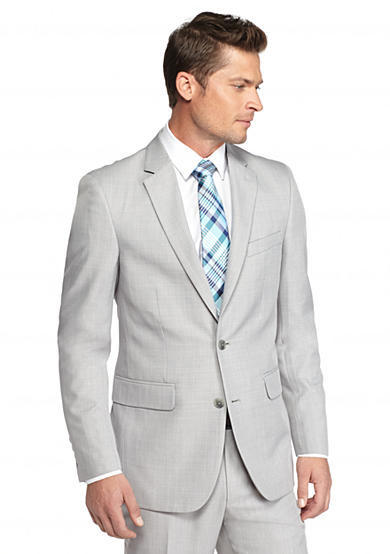 Saddlebred® Classic-Fit Gray Plaid Suit Separate Coat