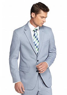Saddlebred® Classic-Fit Blue Tic Suit Separate Coat