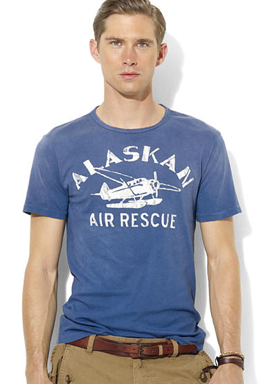 Polo Ralph Lauren Classic-Fit Airplane Crewneck T-Shirt