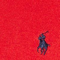 Mens Designer Sweaters: Charter Red Polo Ralph Lauren Pima V-Neck Sweater