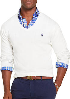 Polo Ralph Lauren Slim-Fit Pima V-Neck Sweater