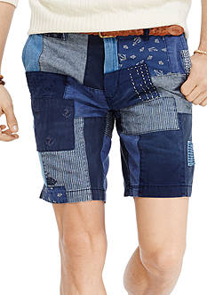 Polo Ralph Lauren Straight-Fit Maritime Patchwork Shorts<br>