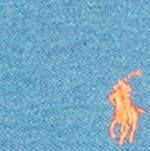 Blue Shirts For Guys: Marine Heather Polo Ralph Lauren Custom-Fit Mesh Polo Shirt