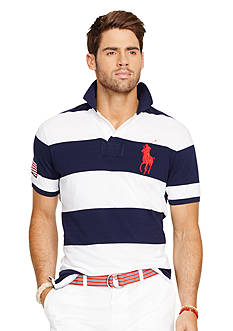 Polo Ralph Lauren Custom-Fit Striped Mesh Polo Shirt
