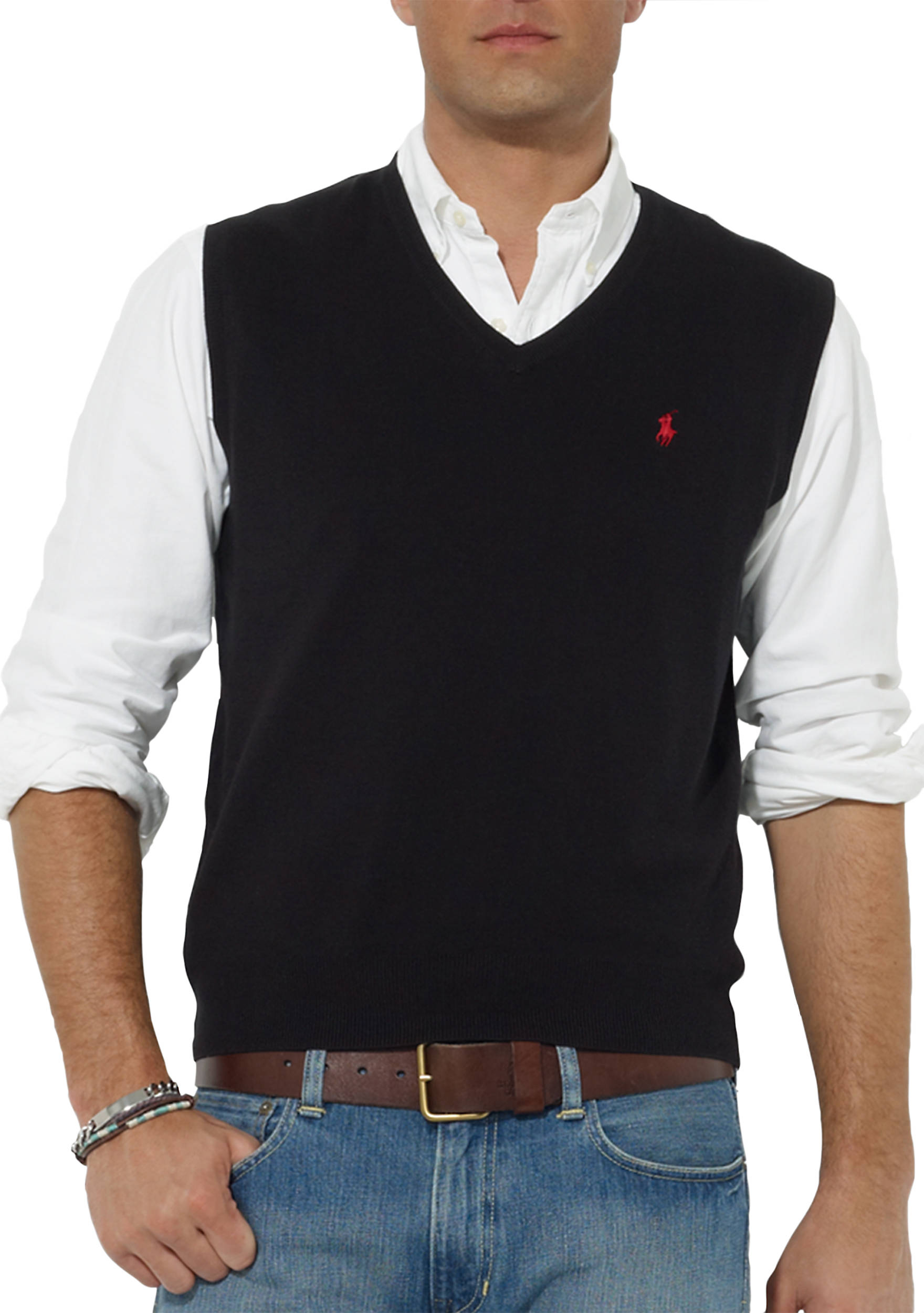 Polo Ralph Lauren Pima Cotton V-Neck Vest | belk